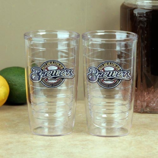 Tervis Tumbler Milwaukee Brewers 2-pack 16oz. Team Logo Tumbler Orgies