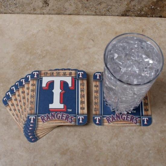 Texas Rangers 8-pack Absorbent Paperkraft Coasters