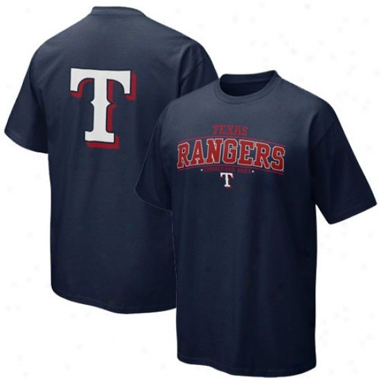 Texas Rangers Attire: Nike Texas Rangers Navy Blue Everyday T-shirt