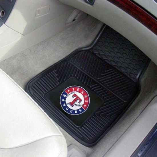 Texas Rangers Black 2-piece Vinyl Car Mat Set
