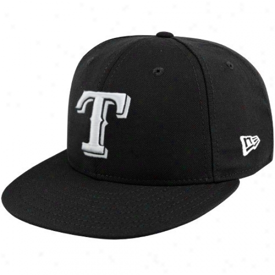Texas Rangers Hat : New Epoch Texas Rangers Black League Basic Fitted Hat