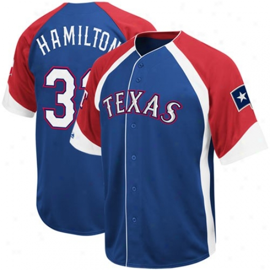 Texas Rangers Jerseys : Majestic Josh Hamilton Texas Rangers Wheelhouse Replica Jerseys - #32 Kingly Livid