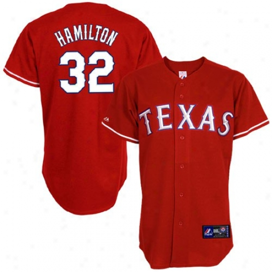 Texas Rangers Jerseys : Majestic Texaz Rangers #32 Josh Hamilton Red Replica Baseball Jerseys
