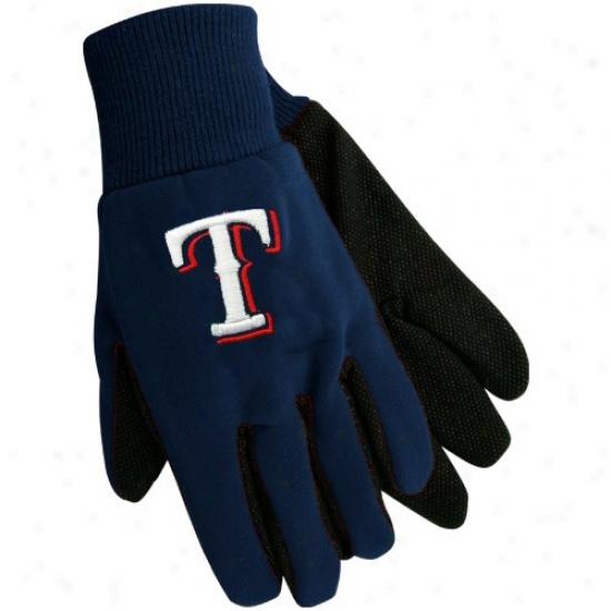 Texas Rangers Navy Blue Utility Gloves