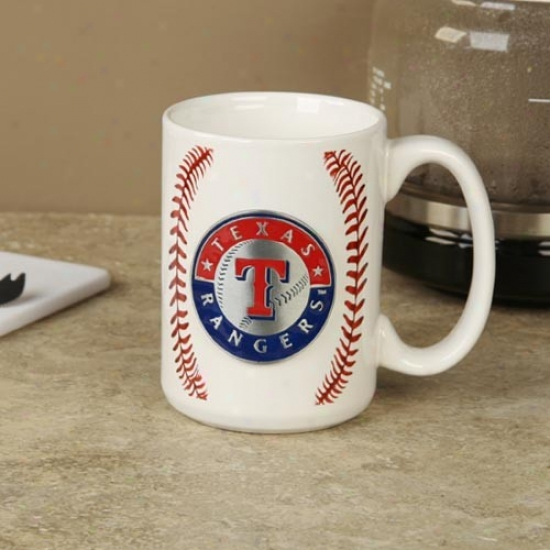 Texas Rangers Pewter Logo Baseball Coffee Mug