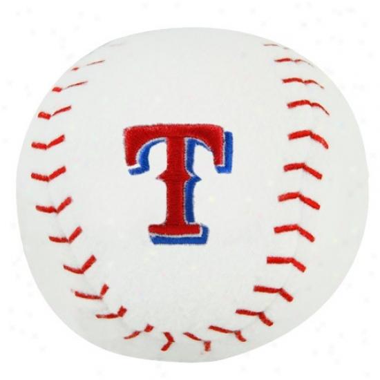 Texas Rangers Plush Team Baseball Rattle