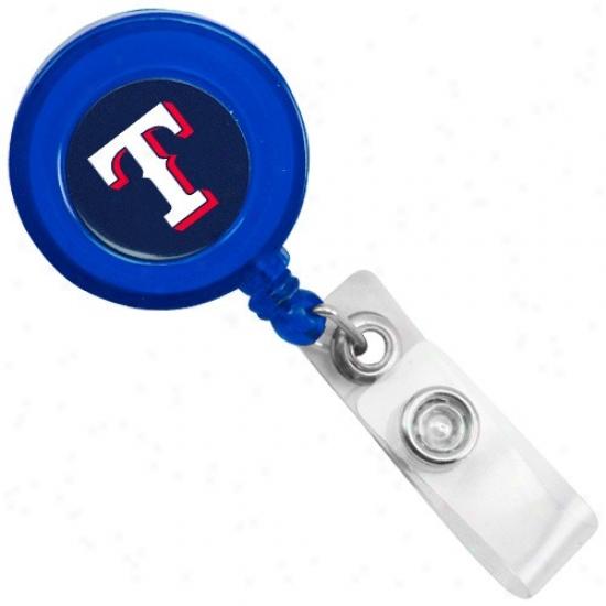 Texas Rangers Royal Blue Badge Reel