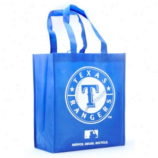 Texas Rangers Royal Blue Reusable Tote Sack