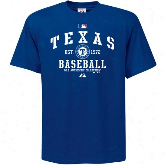 Texas Rangers Shirt : Majestic Texas Rangers Youth Royal Blue Ac Classic Shirt