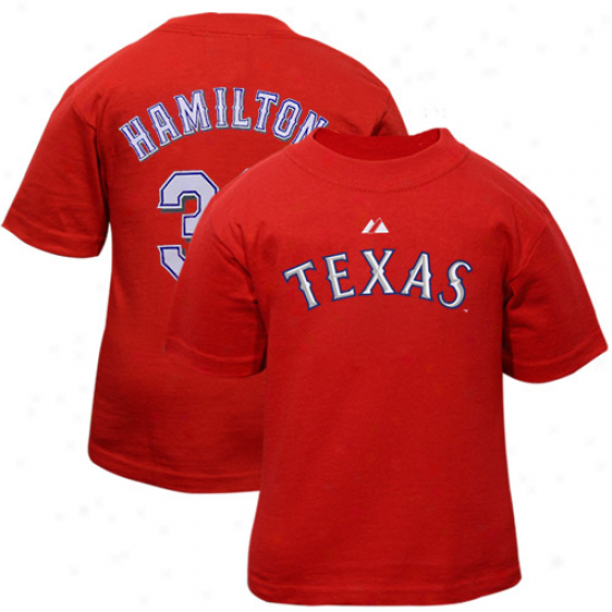 Texas Rangers Shirts : Majestic Texas Ranyers #32 Josh Hamilton Infant Red Player Shirts