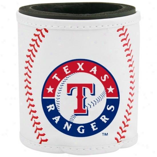 Texas Rangers Whute Basbeall Can Coolie