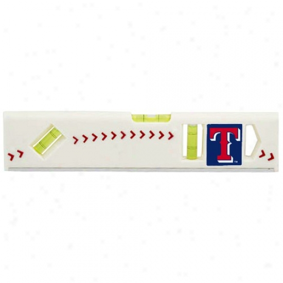 Texas Rangers White Pro-grip Baseball Level