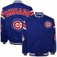 Chicago Cubs Jacket : Chicago Cubs Royal Blue Full Button Twill Jacket