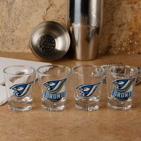Toronto Blue Jays 4-pack Enhanced High Definition Design Shot Glass Value