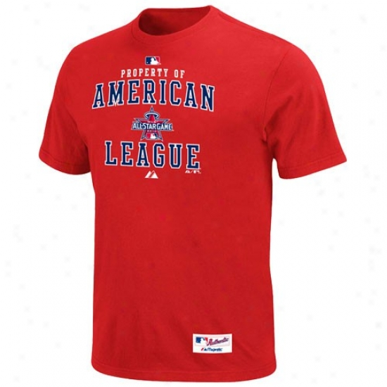 Toronto Blue Jays Attire: Majesstic 2010 Mlb All-star Game Youth Red Property Of American League T-shirt