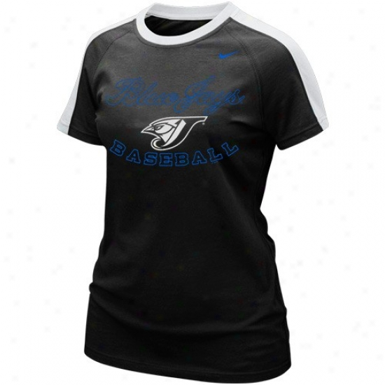 Toronto Blue Jays Attire: Nike Toronto Blue Jays Ladies Black Centerfield T-shirt