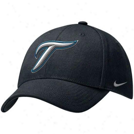 Toronto Blue Jays Gear: Nike Toromto Blue Jays Black Wool Classic Adjustable Hat