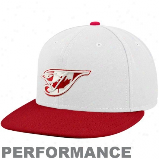 Toronto Blue Jays Hat : New Era Toronto Blue Jays White-red Stars & Stripes On-field 59fifty Fitted Performance Hat