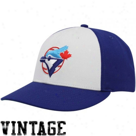 Toronto Blue Jays Hat : Nike Toronto Blue Jays Royal Blue-white Cooperstown 2-tone Swoosh Flex Hat