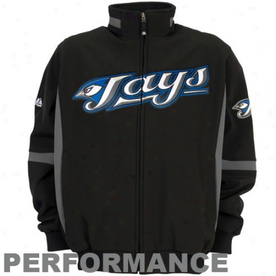 Toronto Blue Jays Jackets : Majestic Toronto Blue Jays Black Therma Base Premier Elevation Performance Jackets