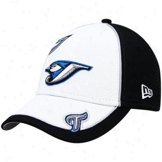 Toronto Blue Jays Merchandiss: New Era Toronto Blue Jays Youth Black-white Wazbon Axjustable Hat