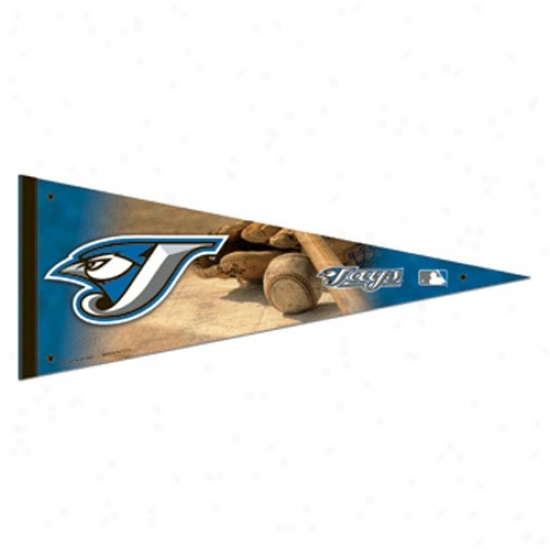 Toronto Blue Jays Navy Blue 12'' X 30''-Premium Felt Pennant