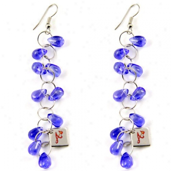 Affect By Alyssa Milano Atlanta Braves Blue Beaded Drop Earrings