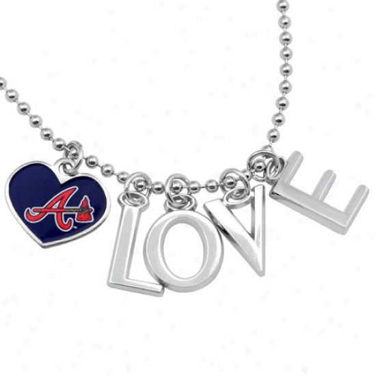 Touch By Alyssa Milano Atlanta Braves Love Necklace With Heart Team Logo