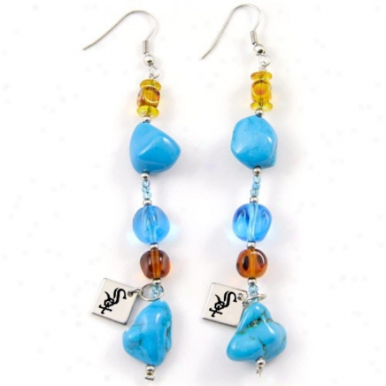 Touch By Alyssaa Milano Chicago White Sox Turquoise Drop Earrings