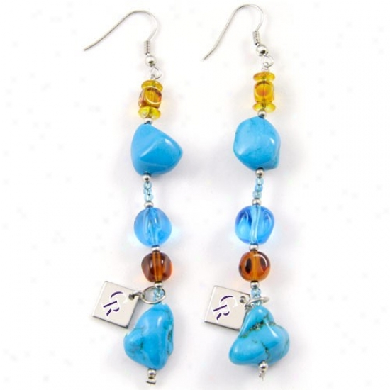 Touch By Alyssa Milano Colorado R0ckies Turquoise Drop Earrings