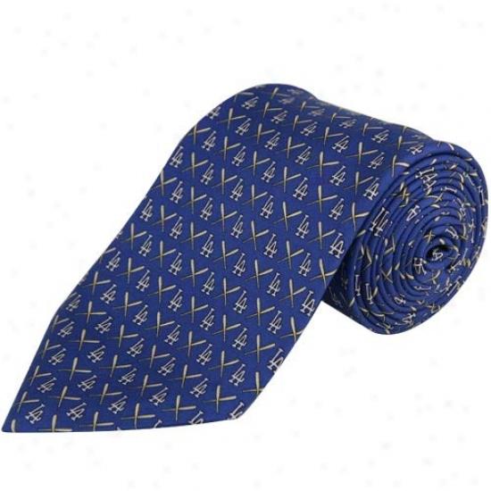 Vineyard Vines L.s. Dodgers Royal Blue Silk Tie