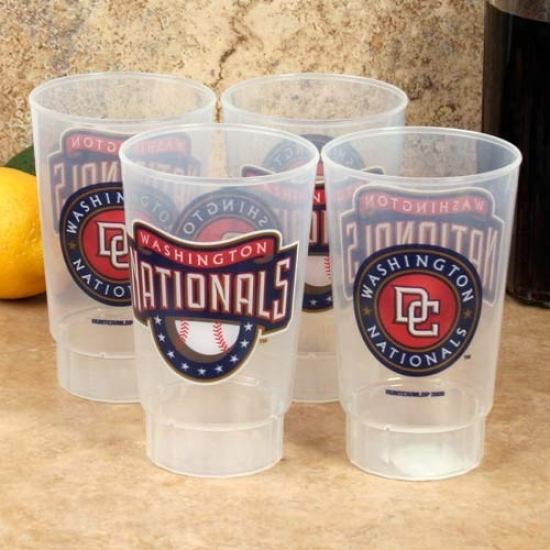 Washington Nationals 4-pack 16oz. Plastic Cups