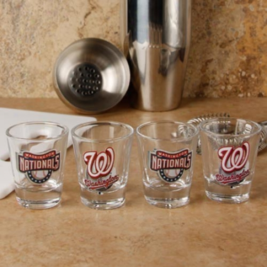 Washing5on Nationals 4-pack Enhanced High Definition Design Shot Glass Set