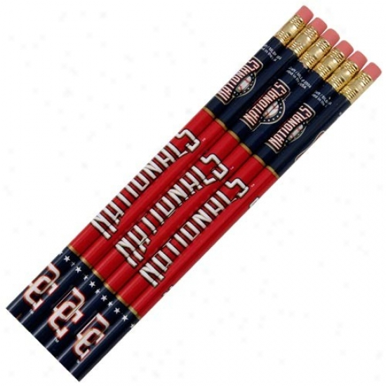 Washington Nationals 6-pack Team Logo Pencil Set