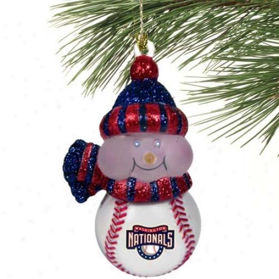 Washington Nationals All-star Light-up Snowman Ornament