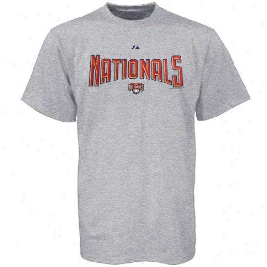 Washington Nationals Apparel: Majestid Washigton Nationals Ash Series Sweep T-shirt
