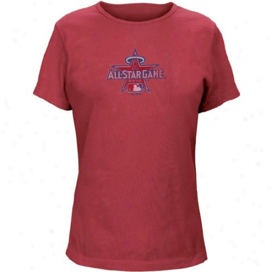 Washington Nationals Dress: Majestic 2010 Mlb All-star Game Ladies Red Big Time Do T-shirt