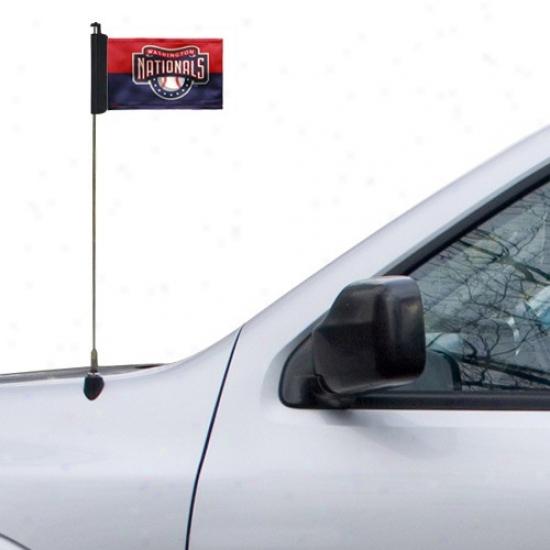 Washington Nationals Banner : Waashington Nationals Navy Blue-red Car Antenna Banner
