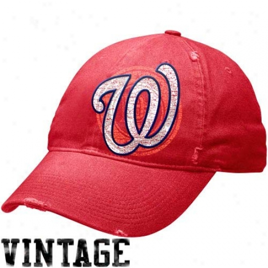 Wasjington Nationals Caps : Nike Washington Nationals Red Stacked Up Heritage 86 Unisex Adjustagle Caps