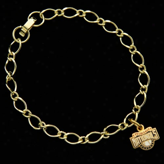 Washington Nationals Ladies Gold-tone Charm Bracelet