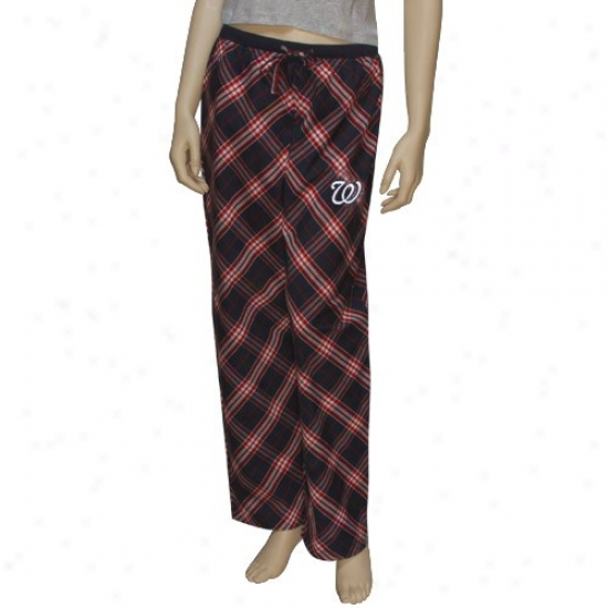 Washington Nationals Ladies Navy Blue Kona Pajama Pants