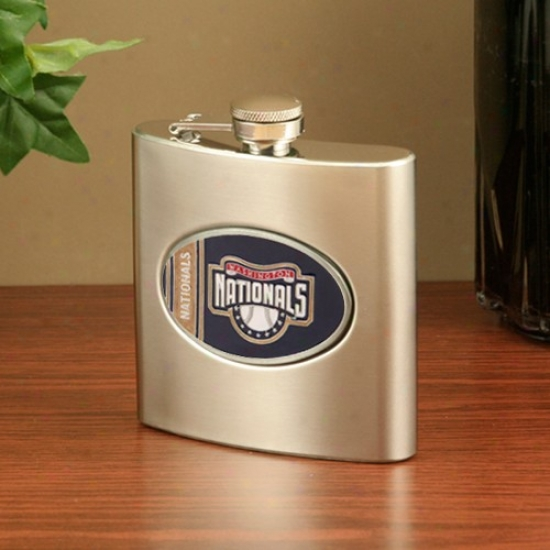 Washington Nationals Stainless Steel Flask