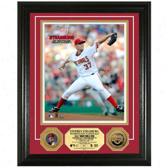 Washington Nationals Stephen Strasburg Mlb Debut 24kt Gold Coin Photomint