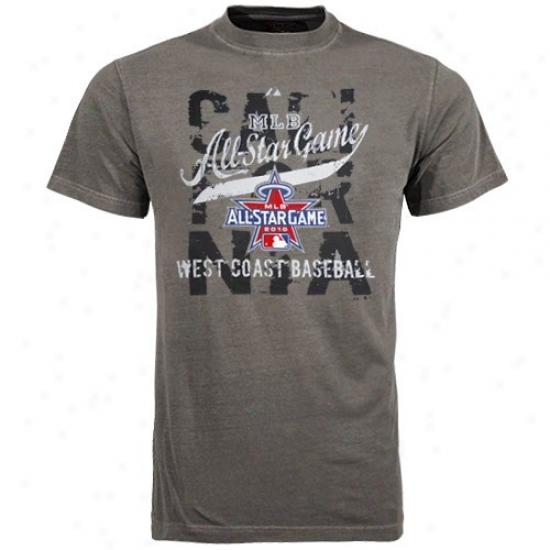 Washington Nationals T-shirt : Majestic 2010 Mlv All-star Game Charcoal Hietarchy T-shirt