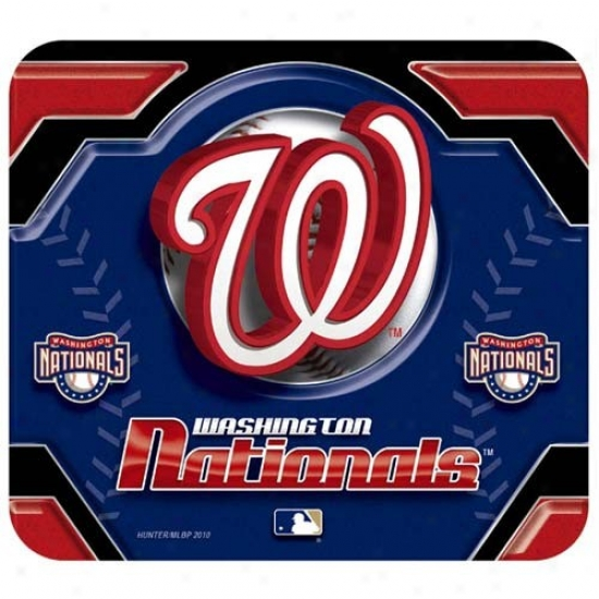 Washington Nationals Team Logo Neoprene Mousepad