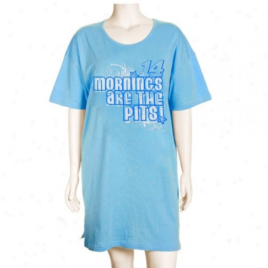 #14 Tony Stewart Ladies Light Blue Mornings Are The Pigs Nightshirt