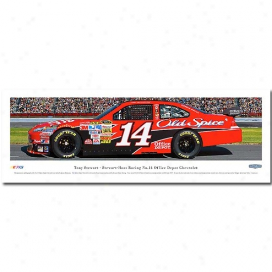#14 Tony Stewart Racecar Panoramic Print
