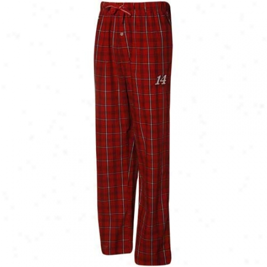 #14 Tony Stewart Red-black Plaid Pajama Pants