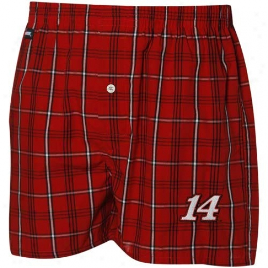 #14 Tony Stewart Red Boxer Shorts
