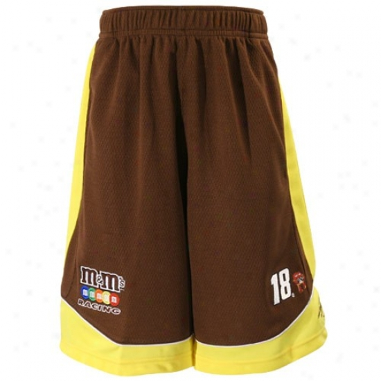 #18 Kyle Busch Youth Brown Speed Shorts